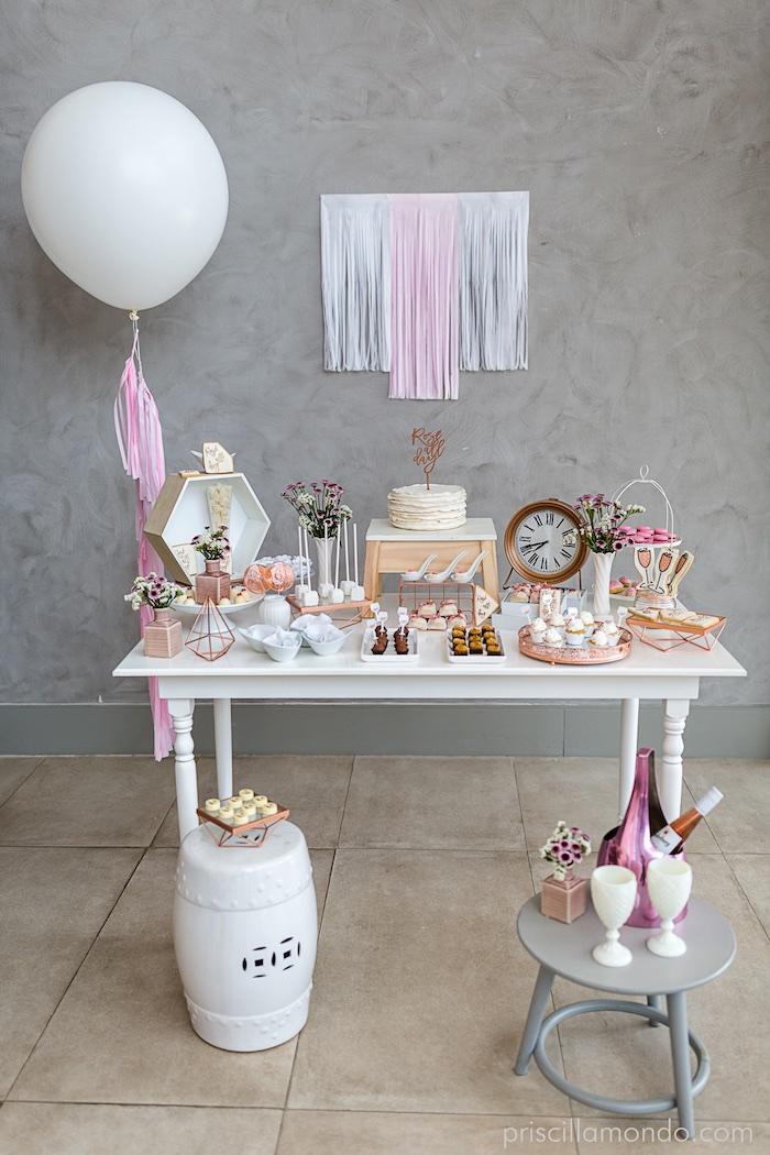 Rosé All Day Glamorous Birthday Party on Kara's Party Ideas | KarasPartyIdeas.com (18)