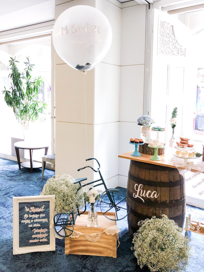 Rustic Vintage Baptism Party on Kara's Party Ideas | KarasPartyIdeas.com (6)