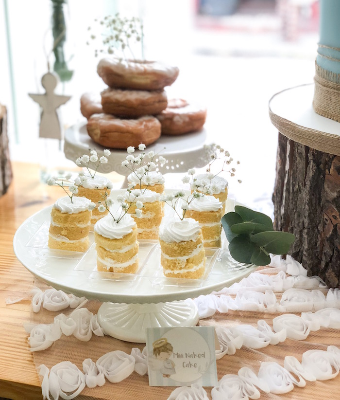Mini naked cakes from a Rustic Vintage Baptism Party on Kara's Party Ideas | KarasPartyIdeas.com (12)