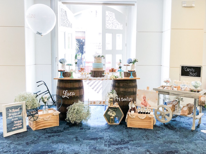 Rustic Vintage Baptism Party on Kara's Party Ideas | KarasPartyIdeas.com (10)
