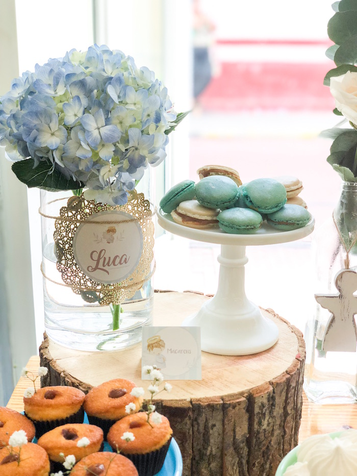 Macarons from a Rustic Vintage Baptism Party on Kara's Party Ideas | KarasPartyIdeas.com (9)