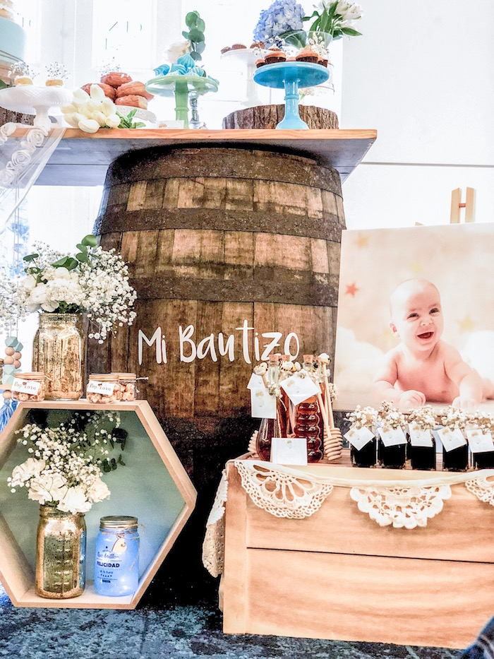 Favors & decor from a Rustic Vintage Baptism Party on Kara's Party Ideas | KarasPartyIdeas.com (7)