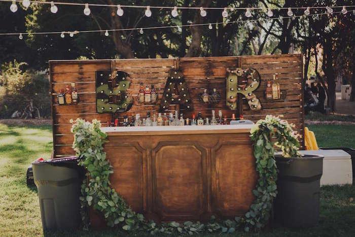 Bar from Sendi Wedding Party on Kara's Party Ideas | KarasPartyIdeas.com (12)