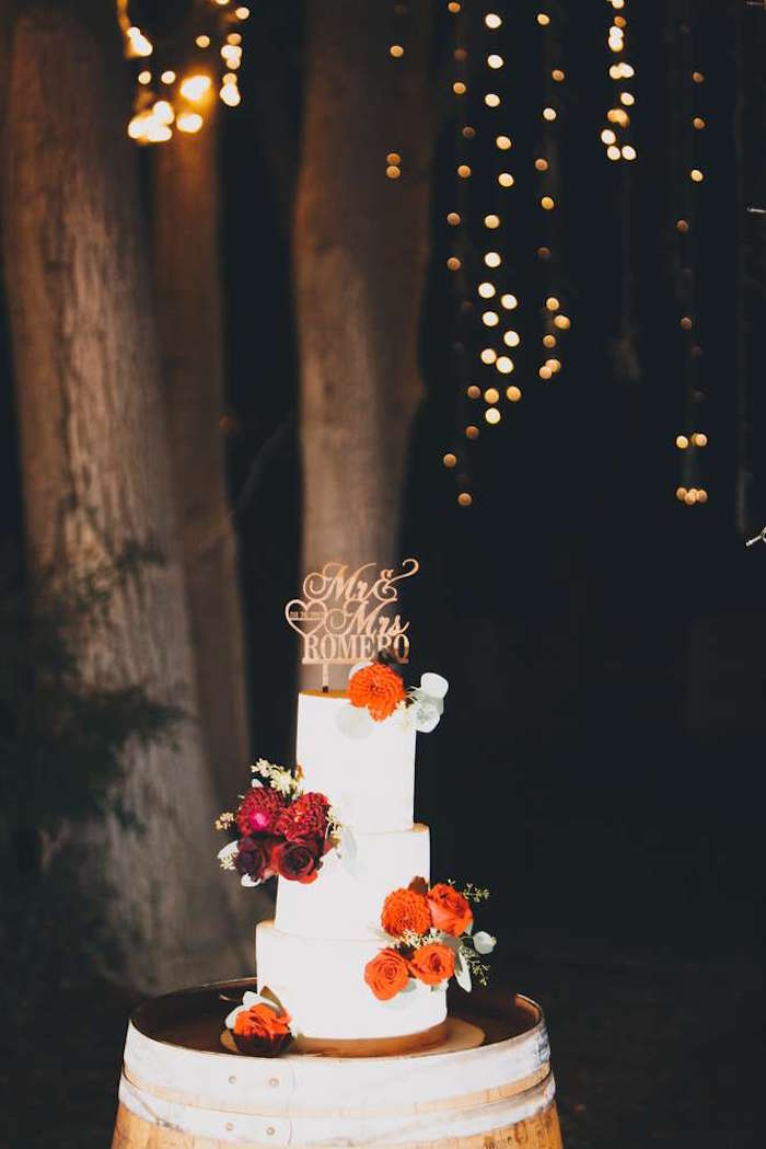 Cake from a Sendi Wedding Party on Kara's Party Ideas | KarasPartyIdeas.com (10)