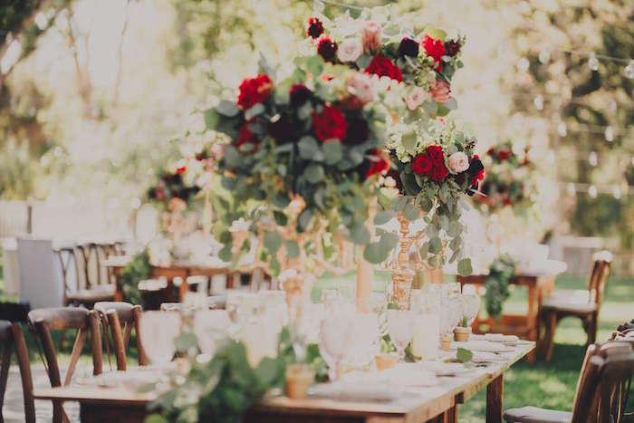 Floral centerpieces from a Sendi Wedding Party on Kara's Party Ideas | KarasPartyIdeas.com (8)