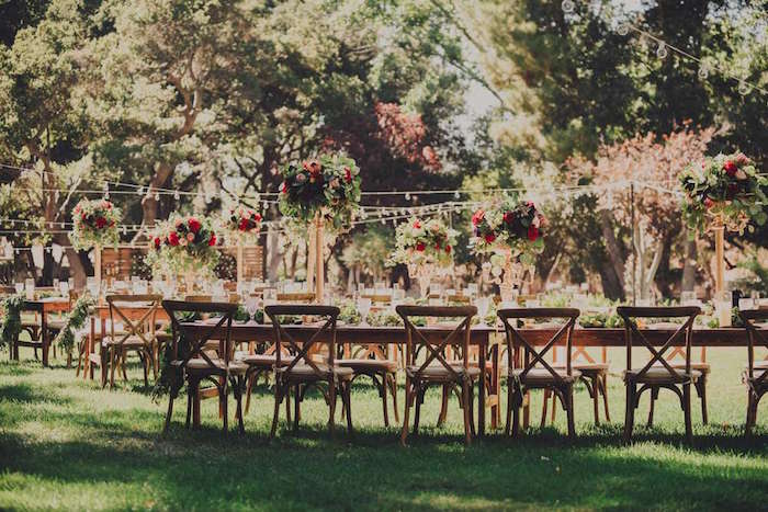 Guest tables from a Sendi Wedding Party on Kara's Party Ideas | KarasPartyIdeas.com (6)