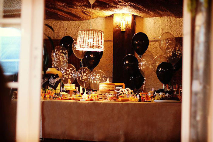Dessert table from a Sheep On The Loose Western Farm Birthday Party on Kara's Party Ideas | KarasPartyIdeas.com (13)