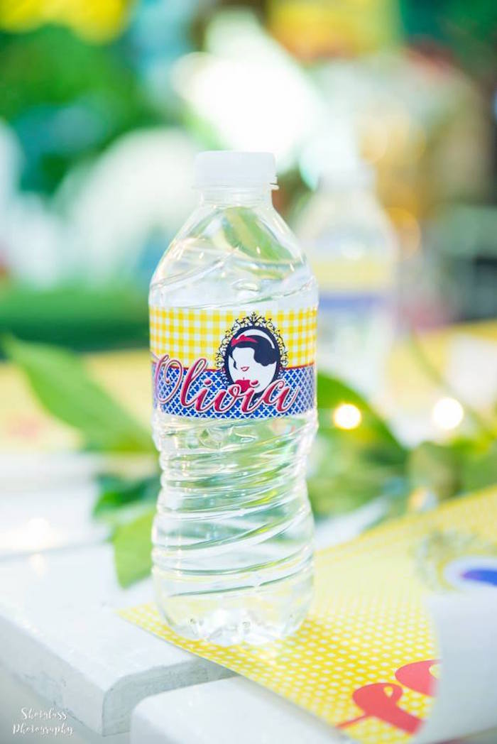 Snow White water bottle label from a Snow White Enchanted Forest Birthday Party on Kara's Party Ideas | KarasPartyIdeas.com (18)