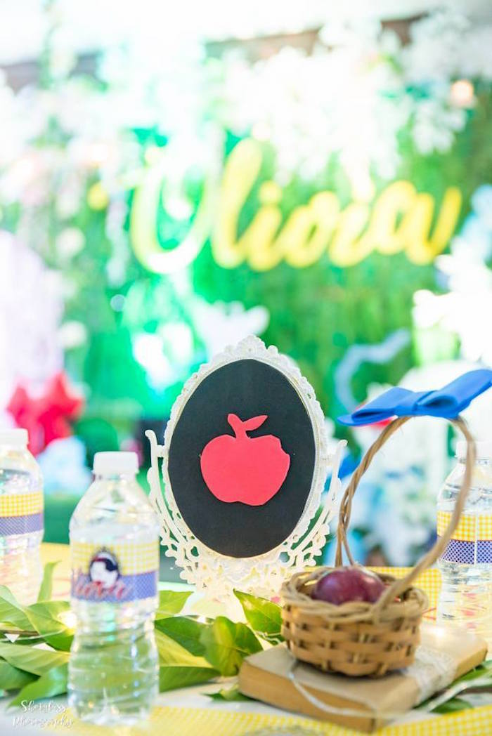 Apple silhouette centerpiece from a Snow White Enchanted Forest Birthday Party on Kara's Party Ideas | KarasPartyIdeas.com (14)
