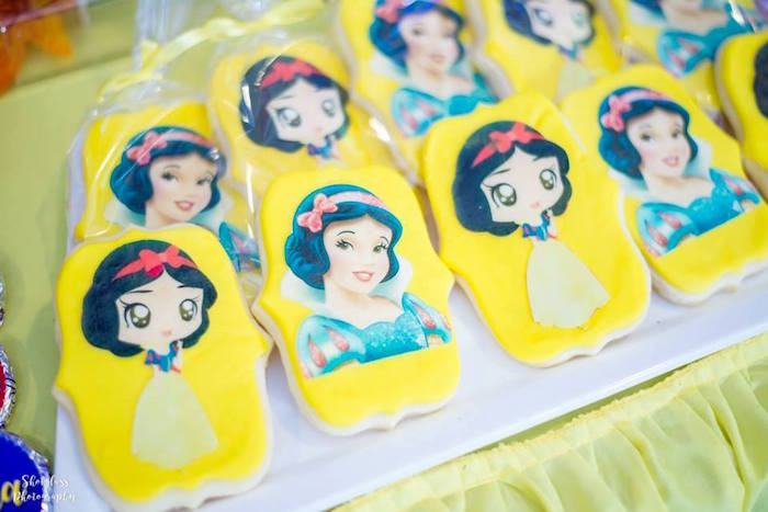 Snow White Cookies from a Snow White Enchanted Forest Birthday Party on Kara's Party Ideas | KarasPartyIdeas.com (10)