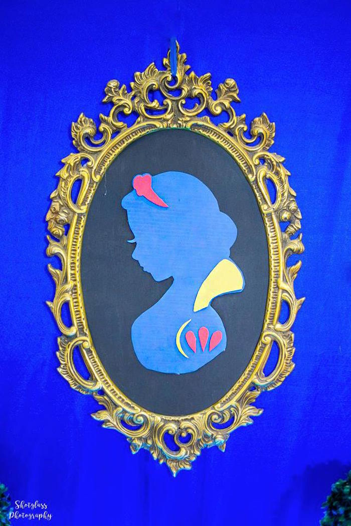 Snow White Silhouette from a Snow White Enchanted Forest Birthday Party on Kara's Party Ideas | KarasPartyIdeas.com (8)