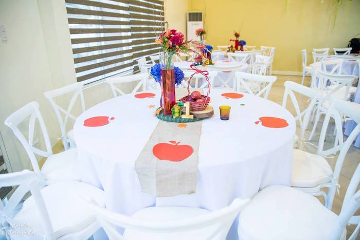 Snow White guest table from a Snow White Enchanted Forest Birthday Party on Kara's Party Ideas | KarasPartyIdeas.com (22)