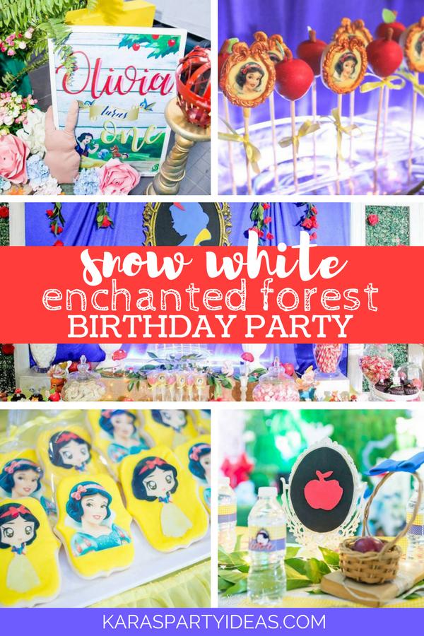 Snow White Enchanted Forest Birthday Party via Kara's Party Ideas - KarasPartyIdeas.com