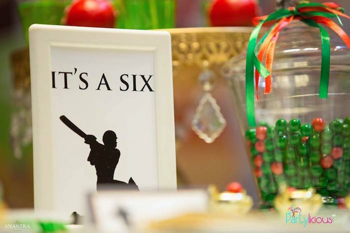 It's a Six Cricket Party Signage from a Sporty Cricket Themed Birthday Party on Kara's Party Ideas | KarasPartyIdeas.com (33)