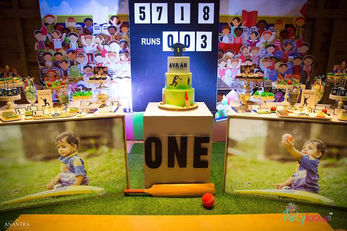 Sporty Cricket Themed Birthday Party on Kara's Party Ideas | KarasPartyIdeas.com (10)