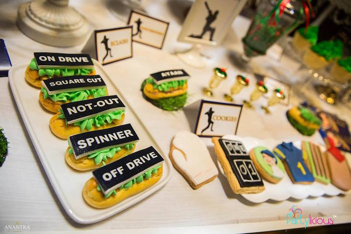 Sweets from a Sporty Cricket Themed Birthday Party on Kara's Party Ideas | KarasPartyIdeas.com (5)