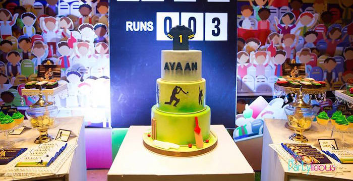 Sporty Cricket Themed Birthday Party on Kara's Party Ideas | KarasPartyIdeas.com (3)
