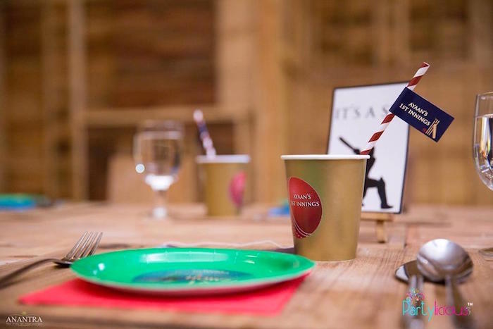 Table setting from a Sporty Cricket Themed Birthday Party on Kara's Party Ideas | KarasPartyIdeas.com (29)