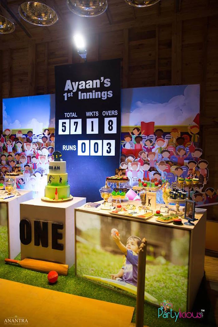 Dessert table from a Sporty Cricket Themed Birthday Party on Kara's Party Ideas | KarasPartyIdeas.com (26)