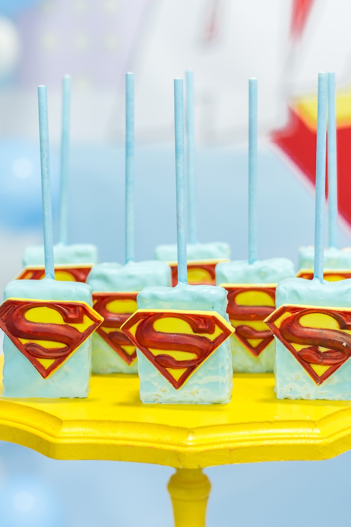 Superman Krispies from a Superman Birthday Party on Kara's Party Ideas | KarasPartyIdeas.com (18)