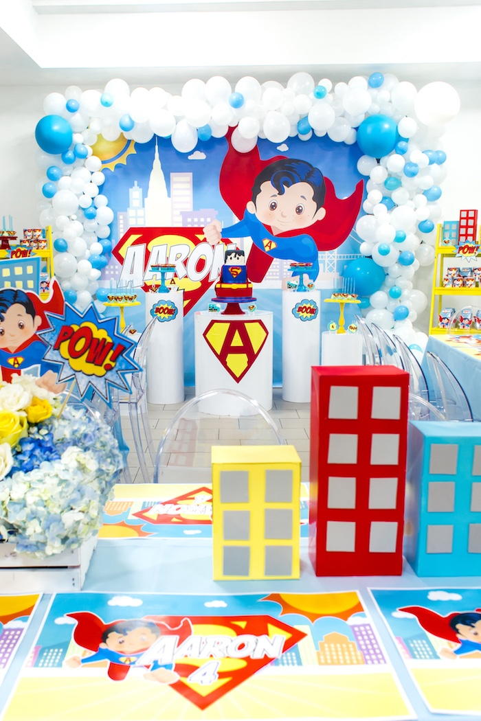 kara u0026 39 s party ideas superman birthday party