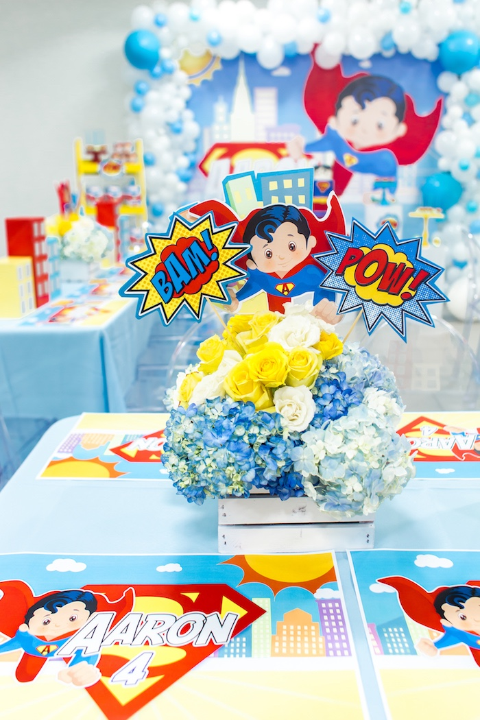 Karas Party Ideas Superman Birthday Party Karas Party Ideas