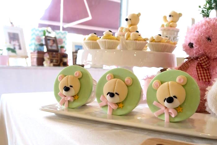 Teddy Bear Cupcakes from a Teddy Bear Birthday Party on Kara's Party Ideas | KarasPartyIdeas.com (5)