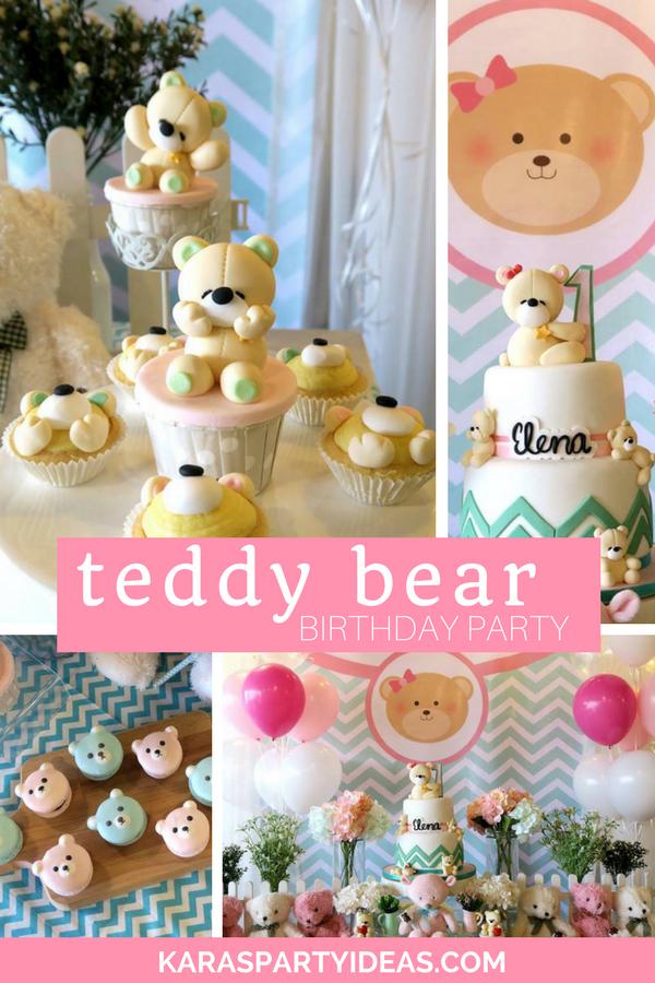 Teddy Bear Birthday Party via Kara's Party Ideas - KarasPartyIdeas.com