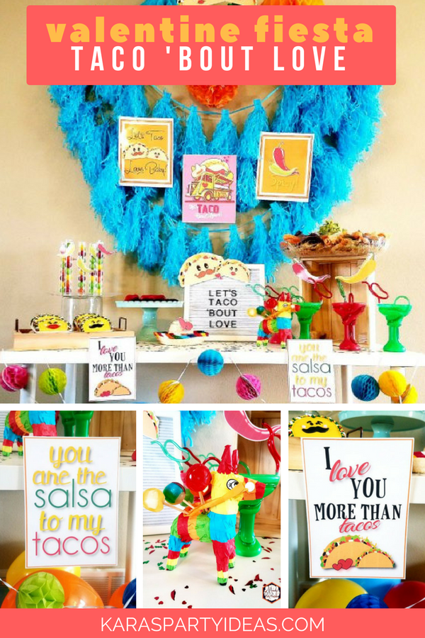 Valentine Fiesta Taco Bout Love Party with FREE PRINTABLES via Kara's Party Ideas - KarasPartyIdeas.com