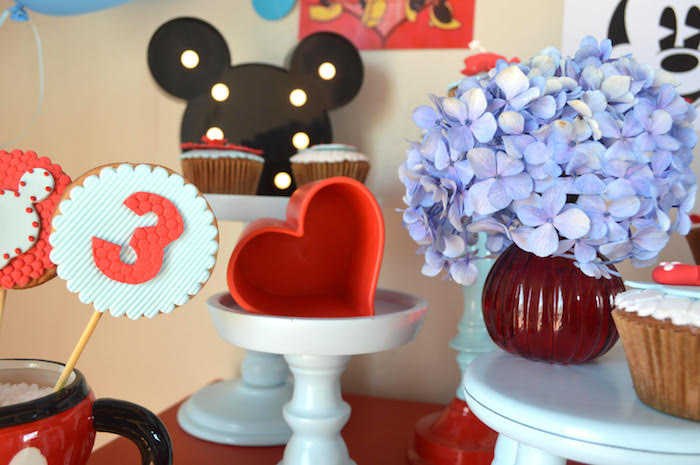 Cookie pops + decor from a Vintage Minnie and Mickey Mouse Party on Kara's Party Ideas | KarasPartyIdeas.com (9)