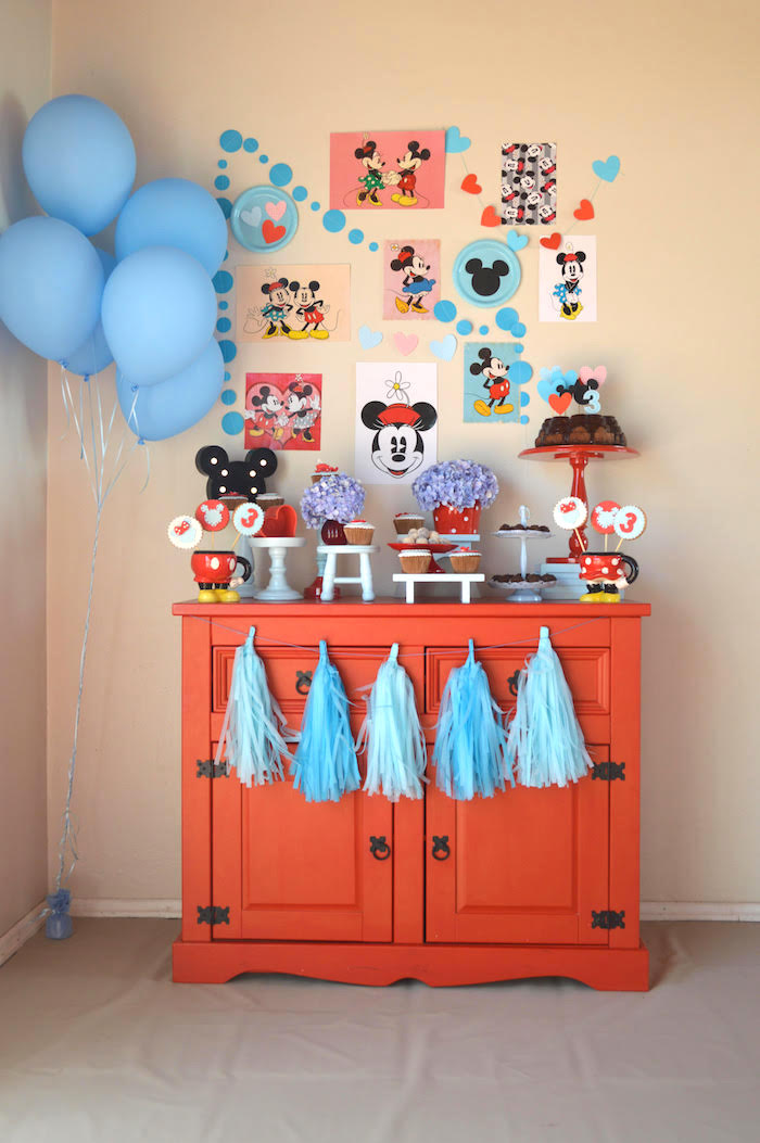 Vintage Minnie and Mickey Mouse Party on Kara's Party Ideas | KarasPartyIdeas.com (8)
