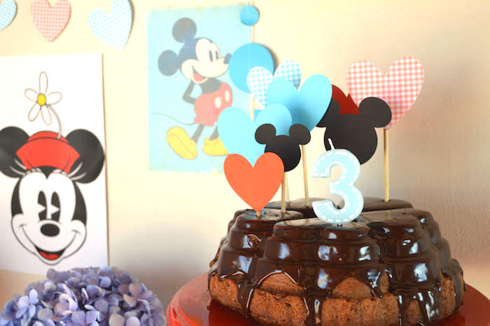 Naked drip cake from a Vintage Minnie and Mickey Mouse Party on Kara's Party Ideas | KarasPartyIdeas.com (7)