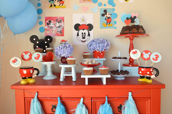 Dessert table from a Vintage Minnie and Mickey Mouse Party on Kara's Party Ideas | KarasPartyIdeas.com (6)