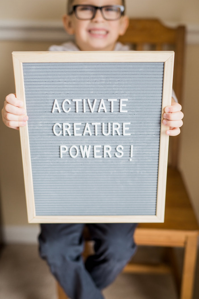 Activate Creature Powers letter board sign from a Wild Kratts Animal Birthday Party on Kara's Party Ideas | KarasPartyIdeas.com (12)