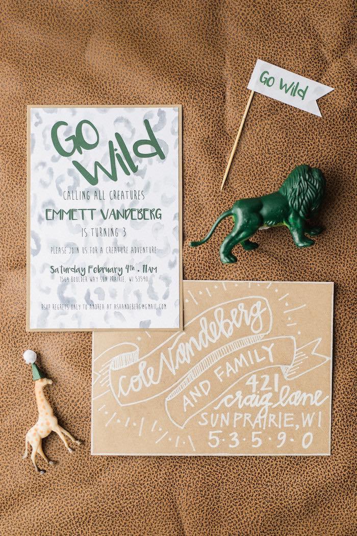 """Go Wild"" Party Invite + Stationery from a Wild Kratts Animal Birthday Party on Kara's Party Ideas | KarasPartyIdeas.com (14)"