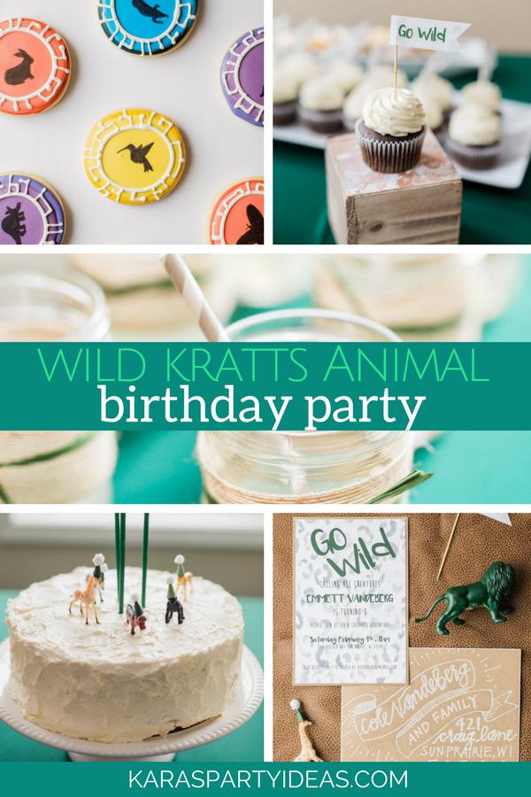 Wild Kratts Animal Birthday Party via Kara's Party Ideas - KarasPartyIdeas.com