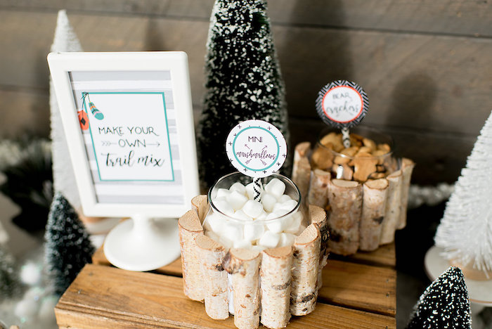 Trail mix from a Winter Woodland Birthday Party on Kara's Party Ideas | KarasPartyIdeas.com (9)