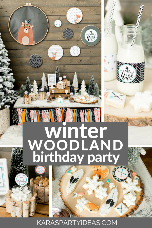 Kara S Party Ideas Winter Woodland Birthday Party Kara S