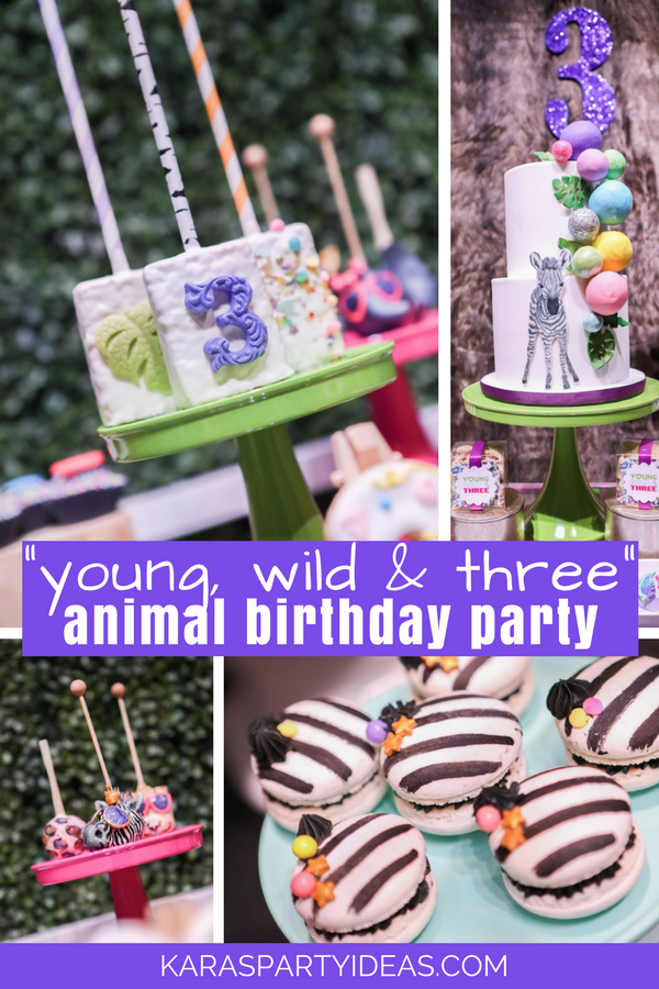 Young Wild and Free Animal Birthday Party via Kara's Party Ideas - KarasPartyIdeas.com