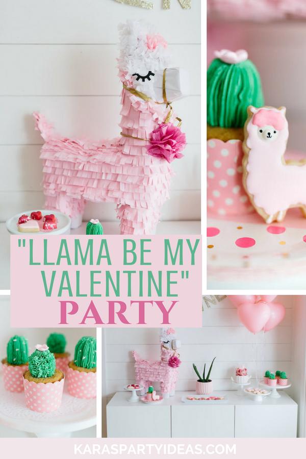 """Llama be my Valentine"" Party via Kara's Party Ideas - KarasPartyIdeas.com"