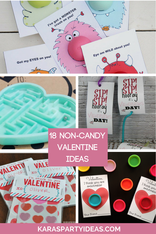 18 Non-Candy Valentine Ideas via Kara's Party Ideas - KarasPartyIdeas.com