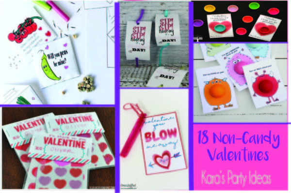 18 Non-Candy Valentines Ideas | Kara's Party Ideas #valentines2018 #valentineideas