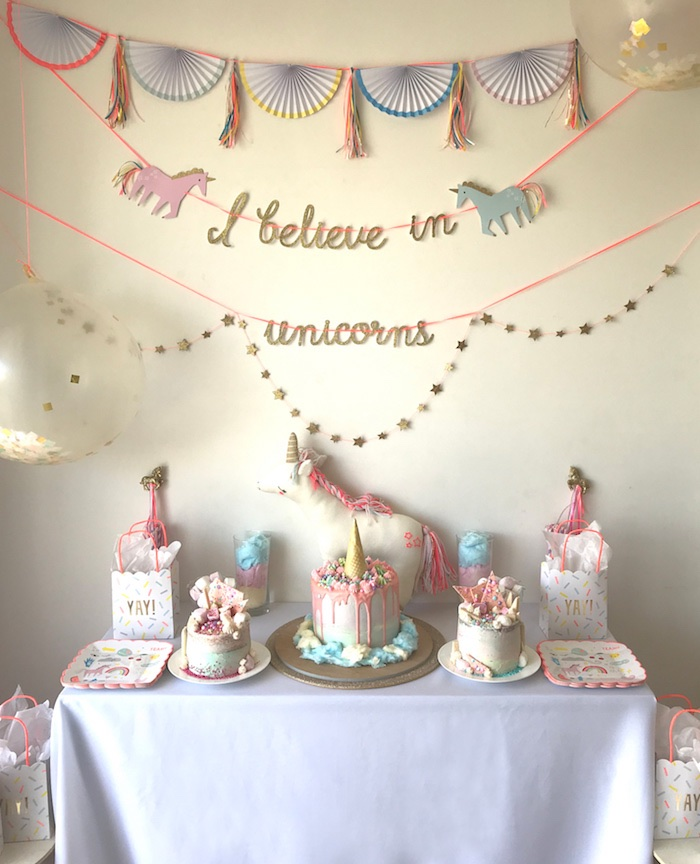 """I Believe in Unicorns"" Birthday Party on Kara's Party Ideas 