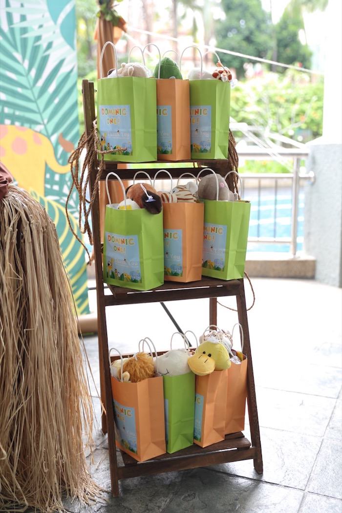"""Favor Bags from a """"King of the Jungle"""" Birthday Party on Kara's Party Ideas 