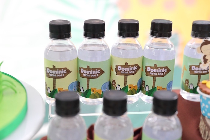 """Jungle Party Drinks from a """"King of the Jungle"""" Birthday Party on Kara's Party Ideas 