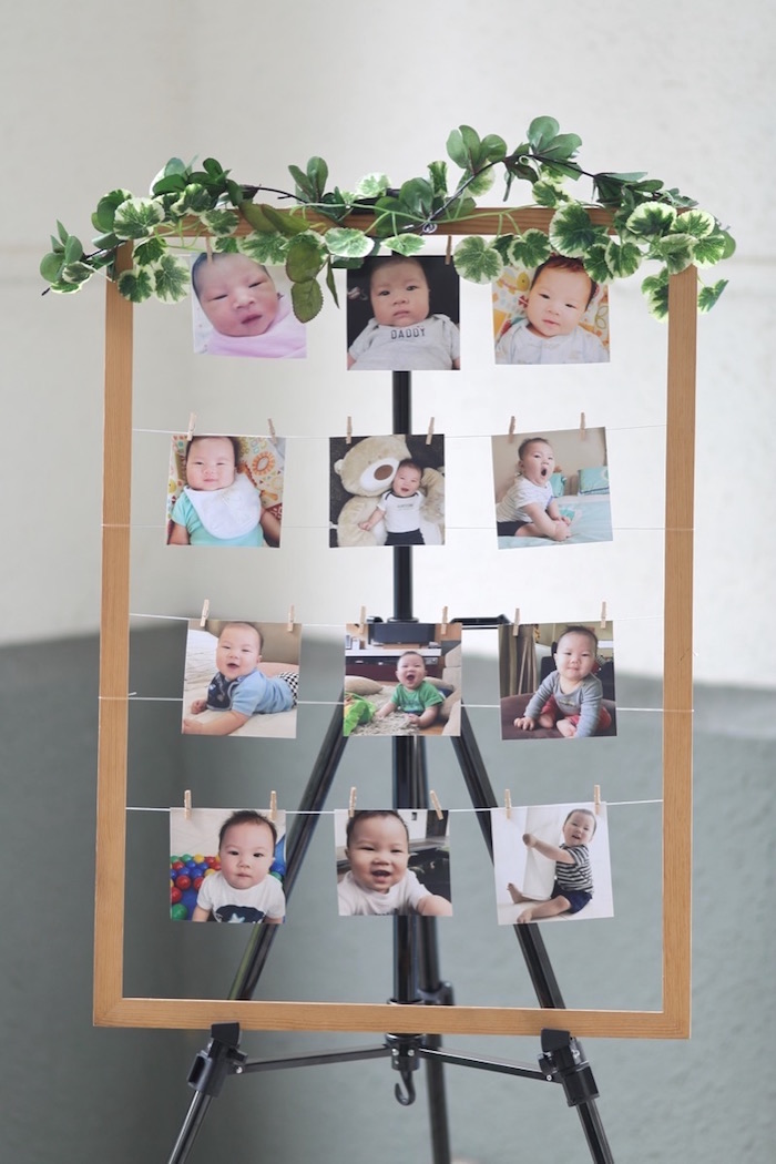 """Personalized Photo Board from a """"King of the Jungle"""" Birthday Party on Kara's Party Ideas 