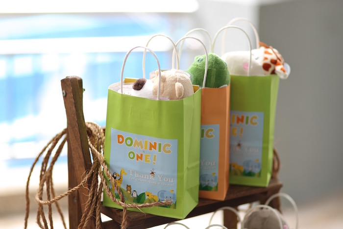 """Paper Favor Bags from a """"King of the Jungle"""" Birthday Party on Kara's Party Ideas 