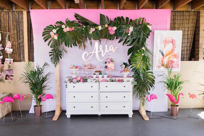"""Let's Flamingle"" Tropical Flamingo Birthday Party on Kara's Party Ideas   KarasPartyIdeas.com (18)"