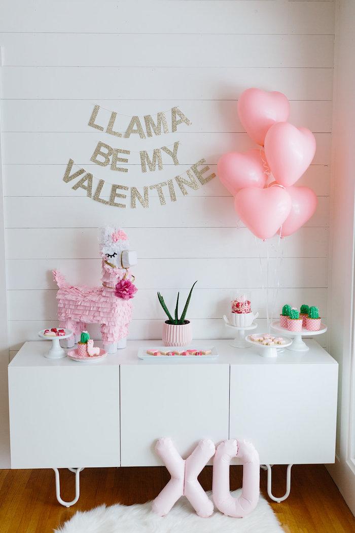 """Llama be my Valentine"" Party on Kara's Party Ideas | KarasPartyIdeas.com (5)"