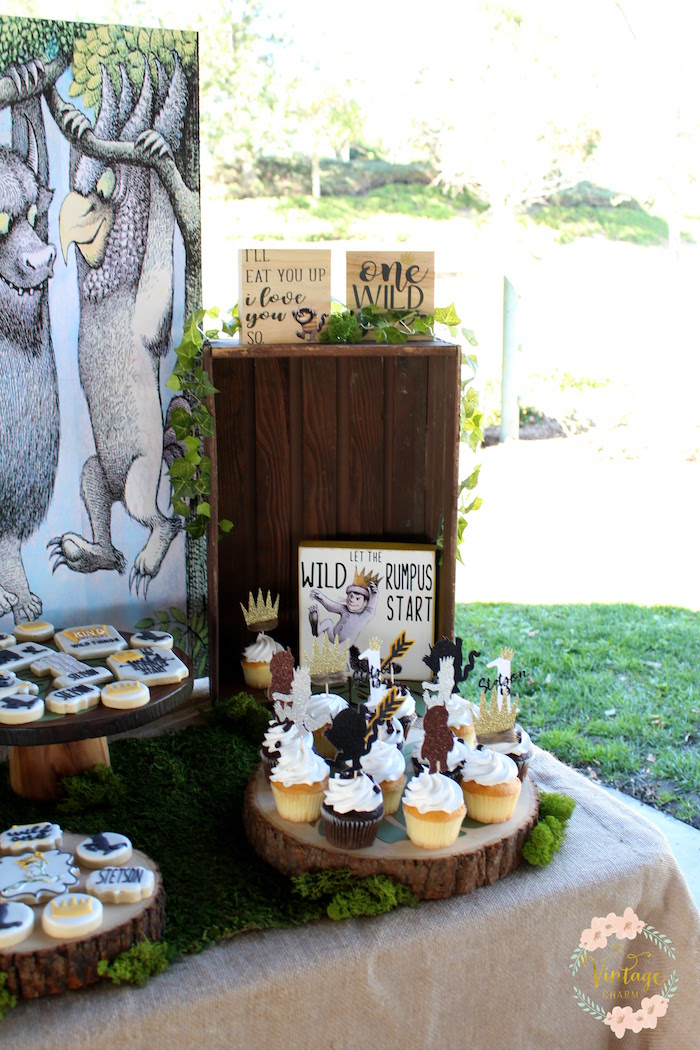 "Sweet Table Detail from a ""Where the Wild Things Are"" Birthday Party on Kara's Party Ideas 